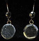Earrings with drops of clear vauxhall glass