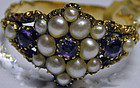 Ring of amethyst and pearl, c1820