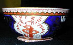 "Spode ""dollar"" pattern bowl, Ca 1810"