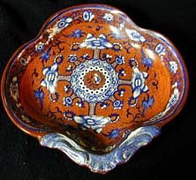 Pearlware shell dish, Ca 1815