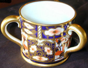 "Royal Crown Derby miniature porcelain ""Tyg"" pattern 24"