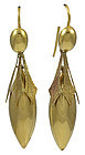 Antique Victorian 15K Gold Drop Earrings
