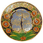 Dramatic Coalport Tree of Life Porcelain Plate