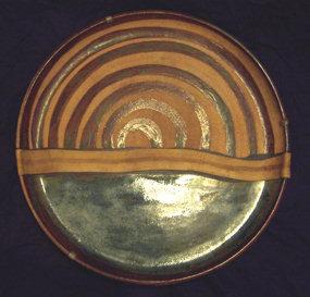 Modern Art Pottery Mixed Media Charger, Turker Ozdogan