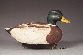 Hollow, Carved Mallard Duck Decoy with Keel, H.W. Jones