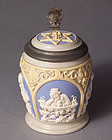 Villeroy & Boch Mettlach Wein Stein with Star of David
