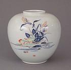 Koransha Porcelain Kakiemon Style Bulbous Kabin (Vase)