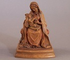 Italian Carved Wood Figural Group of Madonna and Child