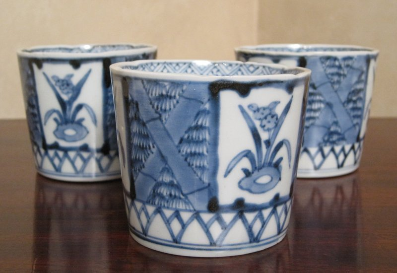 Early 20th Century Japanese Porcelain Sometsuke Choko