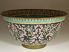 Chinese Porcelain Thai Market Benjarong Bowl, 19th Century