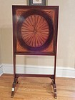 American Federal Mohagany Inlaid Firescreen with Hinged Work Surface