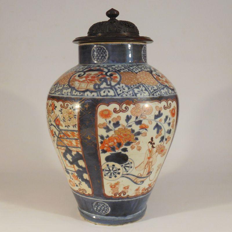 Massive Late 17th, 18th Century Imari Bijin Vase, Probably Genroku Era