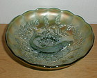 "Green Millersburg TROUT & FLY 8 1/8"" Bowl"