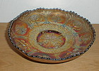 "DRAGON & LOTUS 8 1/8"" Bowl  Blue  Fenton"