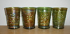 Northwood RASPBERRY green Tumblers