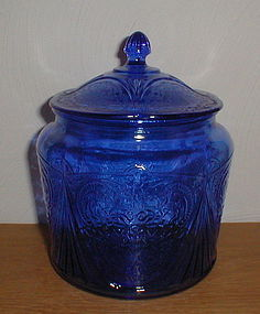 Cobalt Royal Lace Cookie Jar