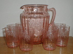 Pink Mayfair Water Set