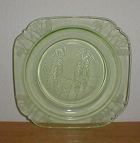 "Green Parrot 7 1/2"" Salad Plates"