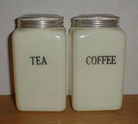 McKee Custard 28 oz. Tea & Coffee Canisters