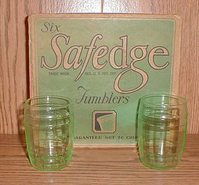 Libbey SAFEDGE Green Tumbler Set MOB