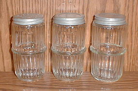 Crystal Hoosier Ribbed Shakers
