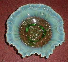"Green ""Meander"" 9 1/2"" Bowl"