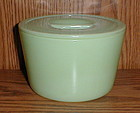 """Jadite 6"""" Round Canister with Lid"""