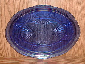 "Cobalt ROYAL LACE 13"" Oval Platter"