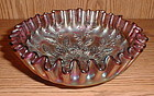 "Fenton HOLLY 7 5/8"" Deep Bowl amethyst"