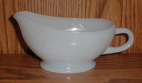 Fire King White Gravy Boat