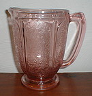 Pink CHERRY BLOSSOM AOP Round Footed Pitcher