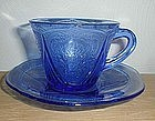 ROYAL LACE Cobalt Cups and Saucers