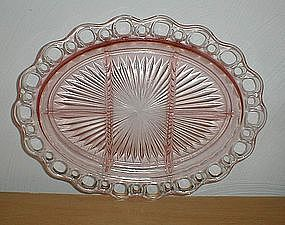 "Pink Old Colony 5 part 12 3/4"" Platter"