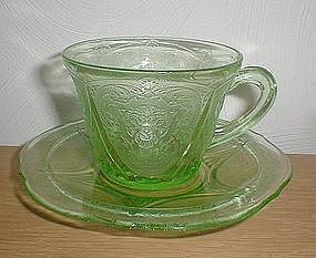 Green ROYAL LACE Cups and Saucers