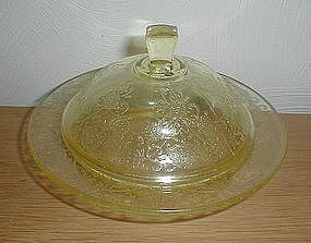 Yellow FLORENTINE #2 Butter Dish