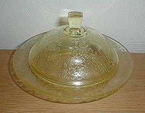 Yellow FLORENTINE #2 Butter Dish