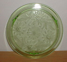 Green SUNFLOWER Cake Plate