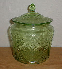 Green ROYAL LACE Cookie Jar & Lid