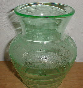 "Green BLACK FOREST 6 1/2"" Vase"