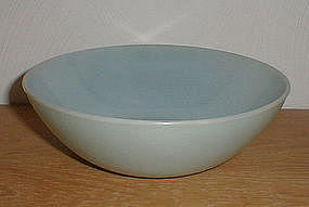"Fire King Turquoise 8"" Vegetable Bowl"
