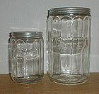Embossed Tea & Coffee Canisters - Crystal