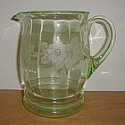 Green DOGWOOD 80 oz. Decorated Pitcher