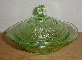 Green ROYAL LACE Butter Dish