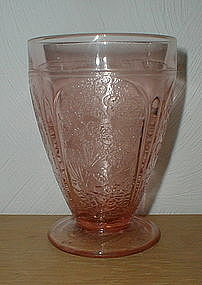"Pink CHERRY BLOSSOM 4 1/2"" 9 oz. Footed Tumblers"