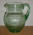 Green ADAM'S RIB Pitcher