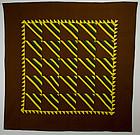 Mennonite Roman Stripe Quilt: Circa 1880; Pa.