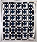 Diamonds in Squares Quilt: Circa 1880