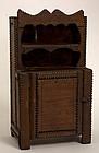 Tramp Art Miniature Cupboard: Circa 1920; Pa.
