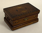 Inlaid Wood Box; Circa 1879