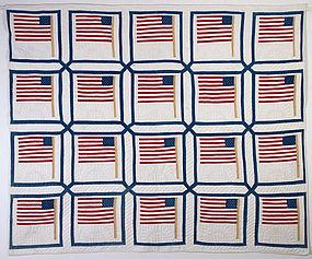 Patriotic Quilt: Circa 1870; Pennsylvania
